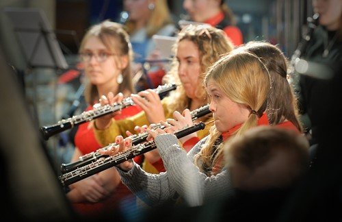 Young oboe players in CYO